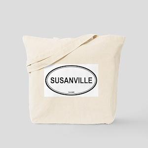 Susanville oval Tote Bag