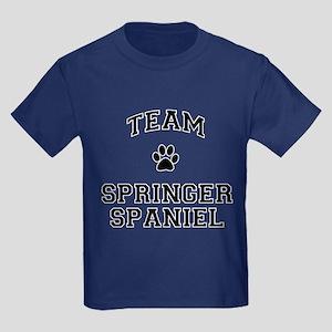 Team Springer Spaniel Kids Dark T-Shirt