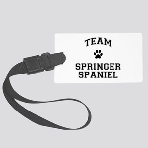 Team Springer Spaniel Large Luggage Tag