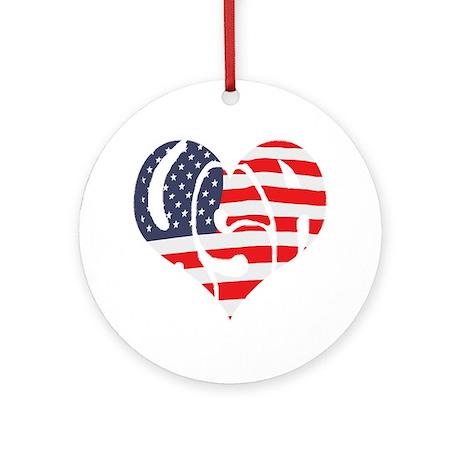 I Hart USA Ornament (Round)