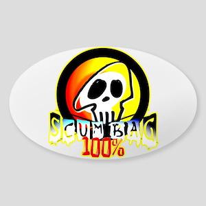 100 Percent Scum Bag Sticker (Oval)