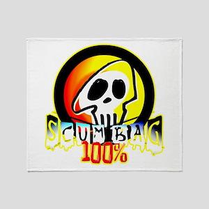 100 Percent Scum Bag Throw Blanket