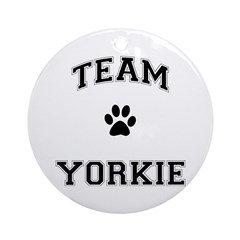 Team Yorkie Ornament (Round)