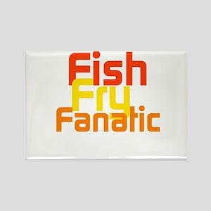 Fish Fry Fanatic Rectangle Magnet