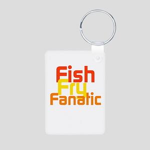 Fish Fry Fanatic Aluminum Photo Keychain