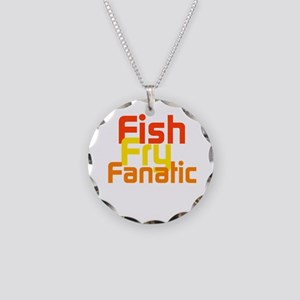 Fish Fry Fanatic Necklace Circle Charm
