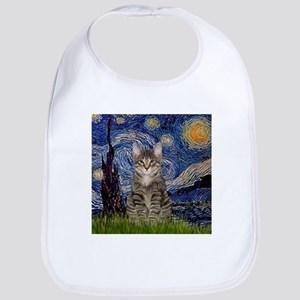 Starry Night & Tiger Cat Bib