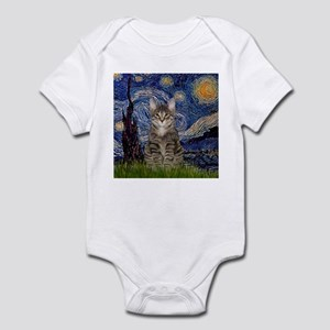 Starry Night & Tiger Cat Infant Bodysuit