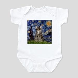 Starry Night & Tiger Cat Infant Bodysuit