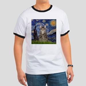 Starry Night & Tiger Cat Ringer T