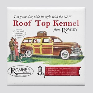 Vintage Romney Dog Tile Coaster