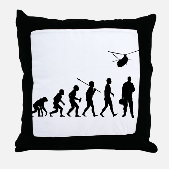 Helicopter Pilot Throw Pillow