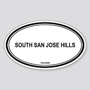 South San Jose Hills oval Oval Sticker