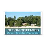 Olson Cottages Rectangle Car Magnet