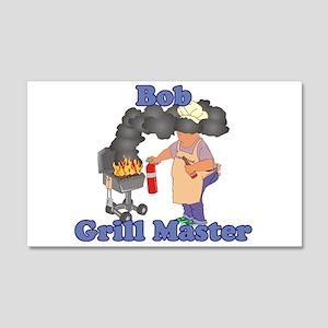 Grill Master Bob 20x12 Wall Decal