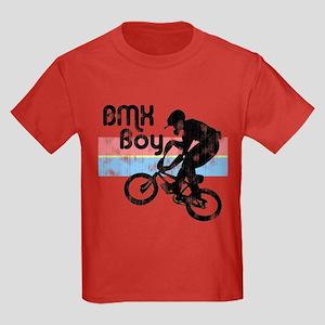 1980s BMX Boy Distressed Kids Dark T-Shirt