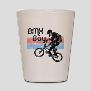 1980s BMX Boy Distressed Shot Glass