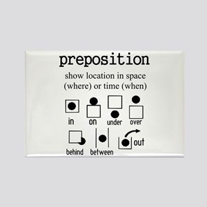Preposition Rectangle Magnet