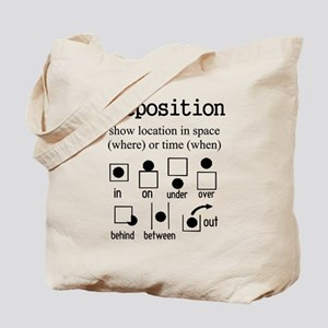 Preposition Tote Bag