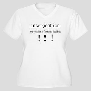 Interjection Women's Plus Size V-Neck T-Shirt