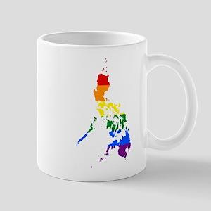 Rainbow Pride Flag Philippines Map Mug