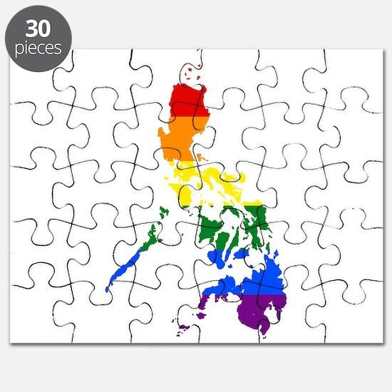 Rainbow Pride Flag Philippines Map Puzzle