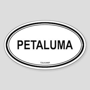 Petaluma oval Oval Sticker