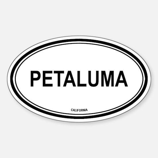 Petaluma oval Oval Decal