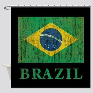 Vintage Brazil Shower Curtain