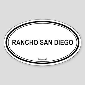 Rancho San Diego oval Oval Sticker