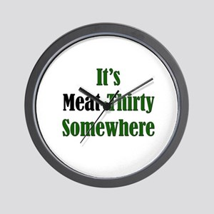 Anti-Vegetarian  Wall Clock
