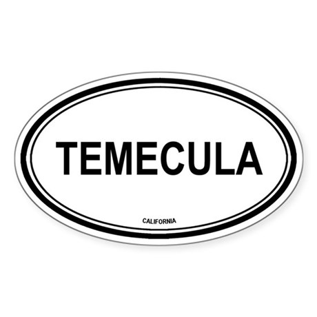 Temecula oval Oval Sticker