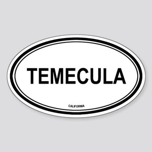 Temecula oval Oval Sticker