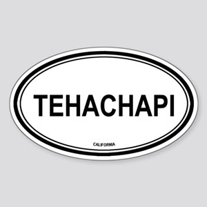 Tehachapi oval Oval Sticker
