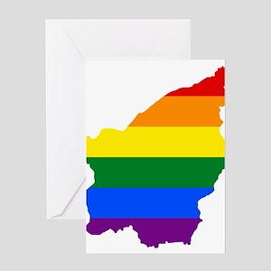 Rainbow Pride Flag San Marino Map Greeting Card
