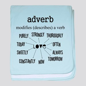 Maternity Adverb baby blanket