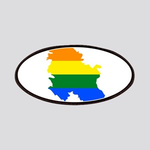 Rainbow Pride Flag Serbia Map Patches