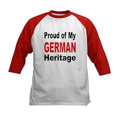 Proud German Heritage (Front) Kids Baseball Jersey