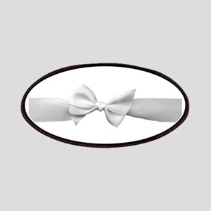 White Ribbon bow Patches
