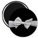 White Ribbon bow Magnet