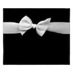 White Ribbon bow King Duvet