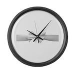 White Ribbon bow Large Wall Clock