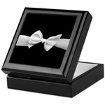 White Ribbon bow Keepsake Box