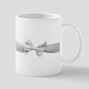 White Ribbon bow Mug