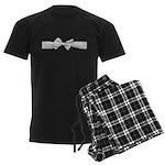 White Ribbon bow Men's Dark Pajamas