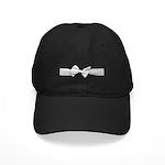 White Ribbon bow Black Cap