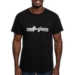 White Ribbon bow Men's Fitted T-Shirt (dark)