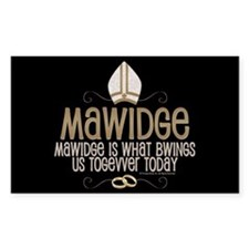 Princess Bride Mawidge Wedding Sticker (Rectangle)