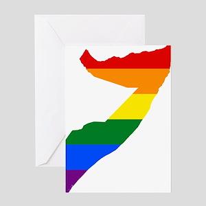 Rainbow Pride Flag Somalia Map Greeting Card
