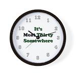 The Anti-Vegetarian Wall Clock